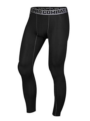Corrida Calças / Leggings / Meia-calça / Fundos Homens Compressão / Materiais Leves Náilon ChinêsExercicio e Fitness / Corridas /