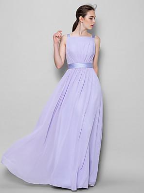 Lanting Bride® Na zem Šifón Šaty pro družičky A-Linie Popruhy s