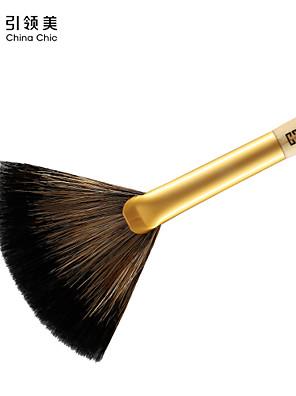1 מברשת מניפה מברשת שיער שועל מקצועי / ידידותי לסביבה / היפואלרגנית עץ פנים אחרים