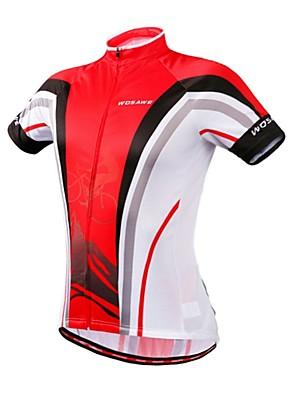 חולצת ג'רסי לרכיבה לנשים / לגברים / יוניסקס שרוול קצר אופניים נושם / ייבוש מהיר / דחיסה / כיס אחוריסווטשירט / אימונית / שכבות בסיס /