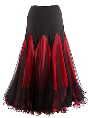 Standardní tance Šaty a sukně Dámské Výkon Šifón / Süt Filtresi Nařasený Jeden díl Sukně Skirt length S-XXL : 90cm