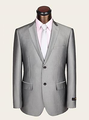 חליפות - גזרה צרה ( אפור בהיר , צמר / ויסקוזה , שני חלקים )