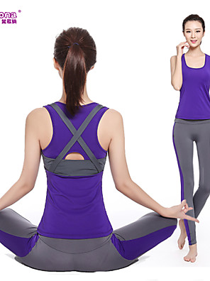 Yoga Kleidungs-Sets/Anzüge Hose + Oberteile Atmungsaktiv / Rasche Trocknung / Videokompression / Leichtes Material Dehnbar Sportbekleidung
