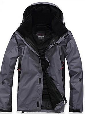 טיולי טבע ז'קט עם שכבה חיצונית רכה / ז'קטים לחורף / ג'קט / מעילי פליז / צמרות לגבריםעמיד למים / נושם / ייבוש מהיר / רוכסן קדמי / עמיד /
