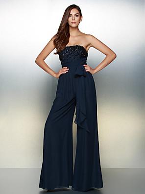 ts couture® de noite formal vestido de uma linha de chiffon strapless assoalho-comprimento com beading