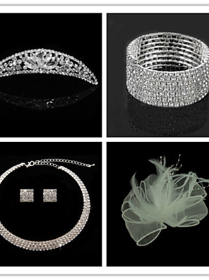 Sieraden set Dames Jublieum / Bruiloft / Verloving / Verjaardag / Geschenk / Feest / Speciale gelegenheden Sieraden SetsKubieke Zirkonia