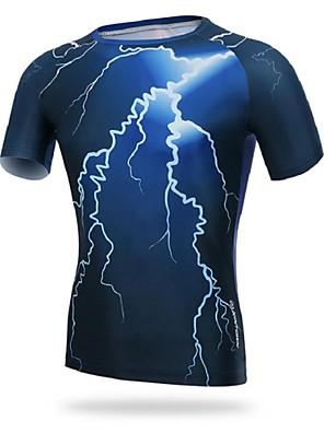 Camisa para Ciclismo Homens Manga Curta MotoRespirável / Resistente Raios Ultravioleta / Permeável á Humidade / Compressão / Redutor de