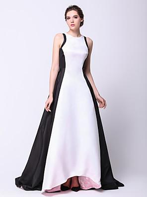 ערב רישמי שמלה - אלגנטי גזרת A / נסיכה עם תכשיטים א-סימטרי טפטה עם