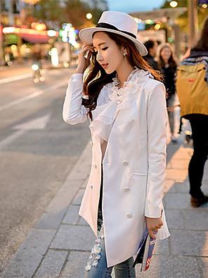Women's 2016 New Spring Blue / White Blazer , Deep V neck OL Bodycon Long Sleeve Suit