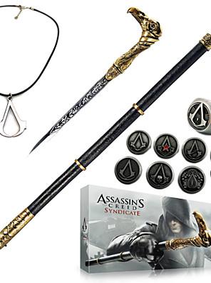 תכשיטים / תג קיבל השראה מ Assassin's Creed קוספליי אנימה / משחקי וידאו אביזרי קוספליי שרשרת / חרב / תג / סיכה כסף סגסוגת / PU עור / PVC