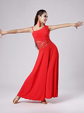 Standardní tance Šaty Dámské Elastický tkaný satén S:125cm,M:125cm,L:130cm,XL:130cm,XXL:132cm
