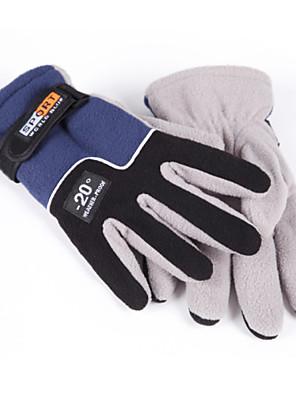 AOTU® כפפות ספורט/ פעילות לנשים / לגברים כפפות רכיבה סתיו / חורף כפפות אופניים שמור על חום הגוף / נגד החלקה על כל האצבע פוליאסטרכפפות