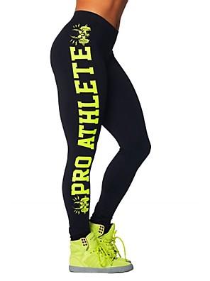 Yoga Pants Underdele / Cykling Tights / Bukser / Leggins Åndbart / Komprimering / Svedreducerende Naturlig Strækkende Sport WearHvid /