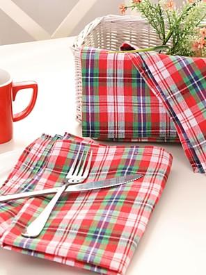 1 100% Coton Carré Chemins de table / ServiettesHôtel Dining Table / Décoration Wedding Party / Wedding Banquet / Décorations de Noël