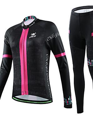 CHEJI® Calça com Camisa para Ciclismo Mulheres Manga Comprida MotoRespirável / Secagem Rápida / Resistente Raios Ultravioleta / Materiais
