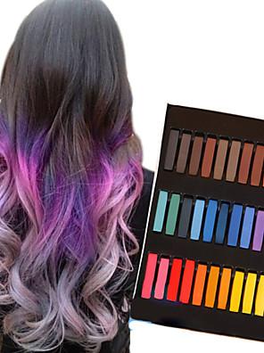 36 kleur tijdelijke krijt krijtjes voor haar niet-giftige haarkleurmiddelen pastels plakken diy styling tools