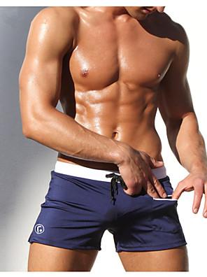 ספורטיבי לגברים בגדי ים נושם / ייבוש מהיר / חומרים קלים טנקיני פוש אפ Tanga שחור שחור M / L / XL / XXL