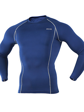 Arsuxeo® שכבת בסיס לרכיבה לגברים שרוול ארוך אופנייםנושם / שמור על חום הגוף / ייבוש מהיר / חומרים קלים / מגביל חיידקים / נמתח לארבעה