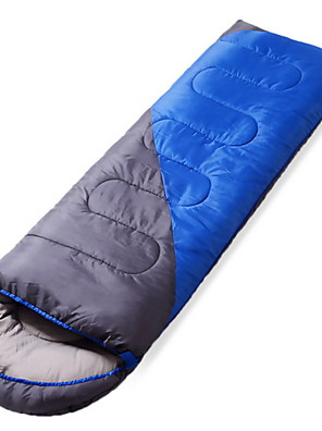 שק שינה שק שינה מלבני יחיד 5-20 כותנה חלולה 600גרם 190cmX75cm קמפינג / לטייל / חוץ / בתוך הביתחדירות ללחות / נשימה / בידוד חום / עמיד