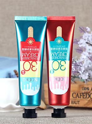 Solcreme Solcreme Solbeskyttelse / Olie kontrol / Længerevarende / Concealer / Vandtæt / Ujævn hud / Naturlig / Pore Reducerende