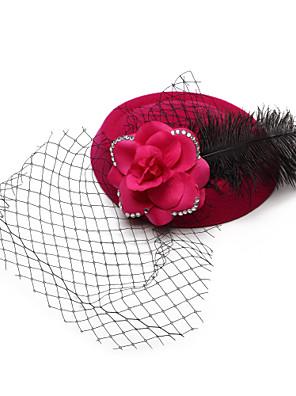 נשים / נערת פרחים נוצה / קטיפה / רשת כיסוי ראש-חתונה / אירוע מיוחד Birdcage Veils חלק 1