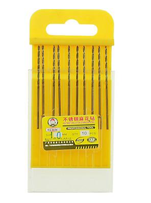 rewin® værktøj rustfrit stål kobolt-holdige spiralboret diameter: 1.0mm med 10stk / boks