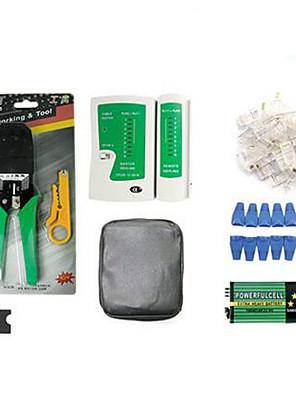 rede ethernet portátil ferramentas cabo testador kits rj45 de friso crimper stripper de soco para baixo rj11 cat5 detector fio cat6