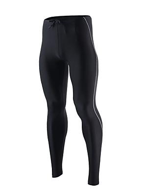 ריצה טייץ רכיבה על אופניים / מכנסיים / תחתיות לגברים נושם / ייבוש מהיר / רך / דחיסה / רצועות מחזירי אור / מפחית שפשופים ניילון / אלסטיין