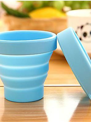 draagbare reizen siliconen opvouwbare cups buitensporten telescopische gorgelen willekeurige kleur