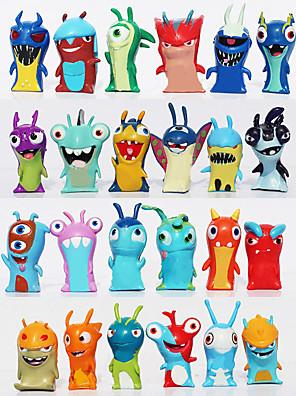 24pcs / définir slugterra cartoon anime 5cm mini-pvc jouets poupées figurines jouets pour enfants cadeaux