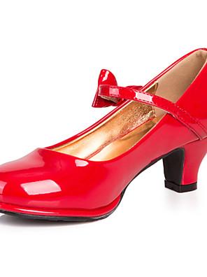 Kerek orrú-Vastag-Női cipő-Magassarkúak-Ruha / Alkalmi-Bőrutánzat-Fekete / Rózsaszín / Piros / Ezüst