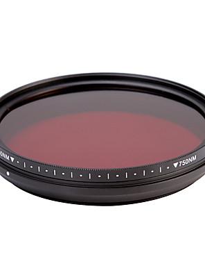 fotga® All-in-One Pass ir אינפרא אדום 530nm-750nm מתכוונן רנטגן 72mm מסנן העדשה