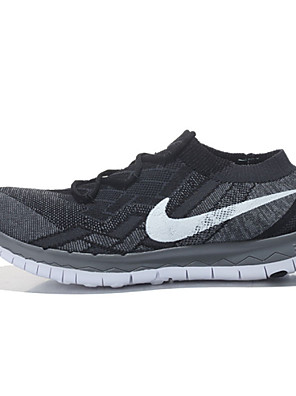 Nike Free 3.0 Flyknit Running Shoes Men's Wearproof Yellow / Green / Dark Gray / Light Gray / Black / Light Green / Light Blue / Orange