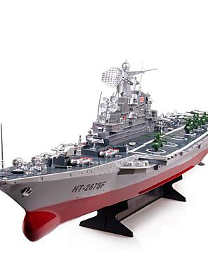 Hadihajó HT 2878A 1:275 Vadászgép RC Hajó Kefe nélküli elektromotor 2CH 6KM/H ABS Piros / Szürke
