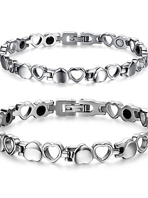 Armbanden Armbanden met ketting en sluiting Titanium Staal Magneettherapie Dagelijks / Causaal Sieraden Geschenk Zilver,1 stuks