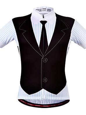Wosawe® חולצת ג'רסי לרכיבה לנשים / לגברים / יוניסקס שרוול קצר אופנייםנושם / ייבוש מהיר / רצועות מחזירי אור / כיס אחורי / מגביל חיידקים /