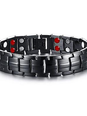 Armbanden Armbanden met ketting en sluiting Roestvast staal Magneettherapie Dagelijks / Causaal Sieraden Geschenk Zwart,1 stuks
