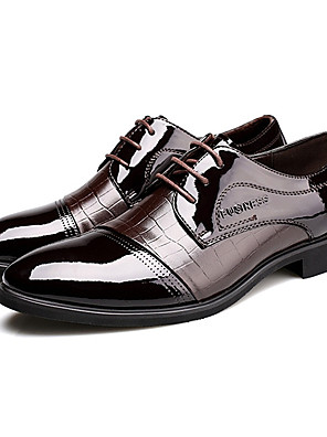 Men's Shoes Office & Career/Party & Evening/Casual Patent Leather Oxfords Black/Brown
