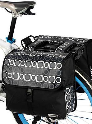 ROSWHEEL® Bolsa de Bicicleta 28LMala para Bagageiro de Bicicleta/Alforje para Bicicleta / Bolsa de OmbroÁ Prova-de-Água / Camurça de Vaca