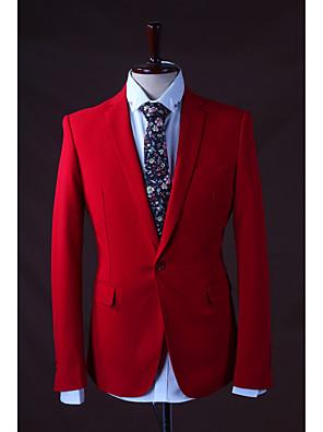 2017 חליפות רזה חריץ בכושר רכיסה פוליאסטר בלחיצת כפתור 3 מוצק חתיכות אדום ישר התנופפו אף אדום אף