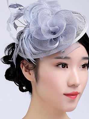 נשים נוצה / טול / נצרים כיסוי ראש-חתונה / אירוע מיוחד / קז'ואל / חוץ קישוטי שיער חלק 1