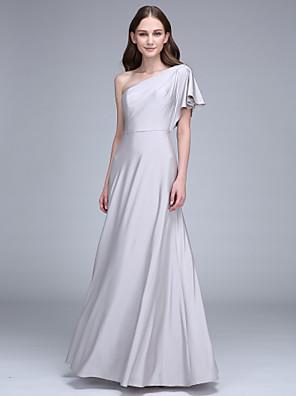 2017 Lanting bride® podlahy délka družička dres šaty - plášť / sloup jedno rameno s bočním zavěšovat