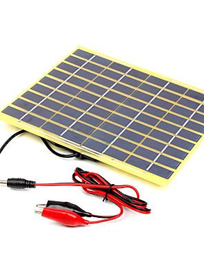 5w 18v fokozatú nagy hatásfokkal monokristályos napelem töltő 12V akkumulátor krokodilcsipesz (swb5018b)