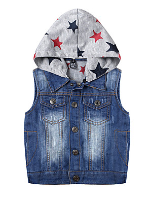 Boy's Casual/Daily Print Vest,Cotton Winter / Fall Blue