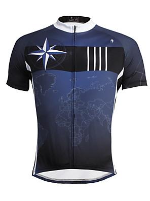 PALADIN® Camisa para Ciclismo Homens Manga Curta MotoRespirável / Secagem Rápida / Resistente Raios Ultravioleta / Redutor de Suor /