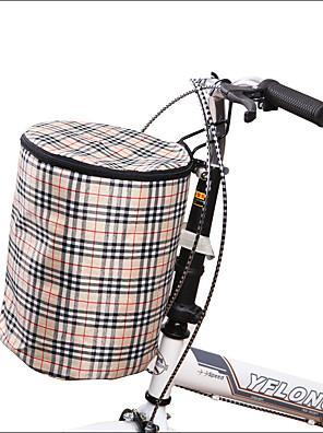 תיק אופנייםתיקים לכידון האופניים עמיד למים תיק אופניים קנבס תיק אופניים רכיבה על אופניים 15CM*15CM*30CM