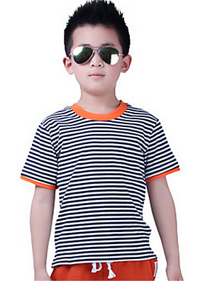 Boy's Cotton Tee,Summer Striped