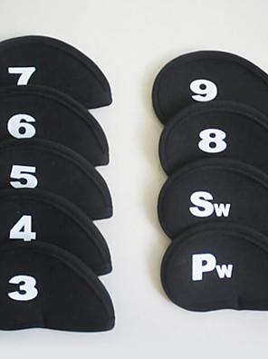Sæt med 9 Golf Jern Covers For Golf Vandtæt PU / Læder - 9 pcs