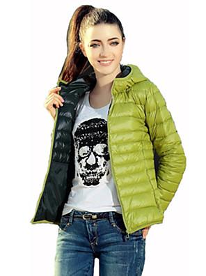 Dámské Aktivní Polyester / Jiné S vycpávkou Kabát Dlouhý rukáv
