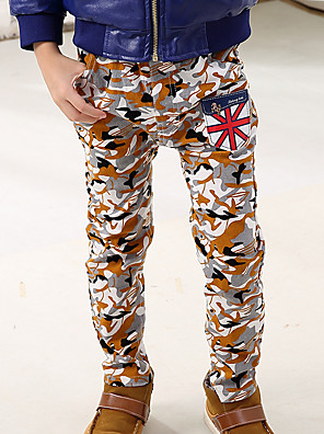 Boy's Cotton Spring/Autumn Fashion Camouflage Long Camo Pants